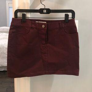 Alexander Wang maroon / burgundy jean skirt